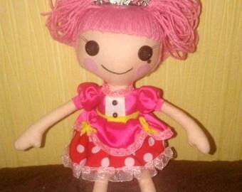 Interior textile doll lalaloopsy  princess handmade