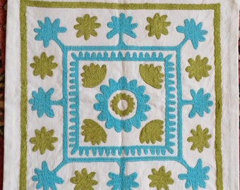 Handmade and embroidered cushion cover from Tajikistan
