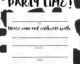 LITTLE PAPER LANE D.I.Y. Invitations-Woo Hoo, Party Time!
