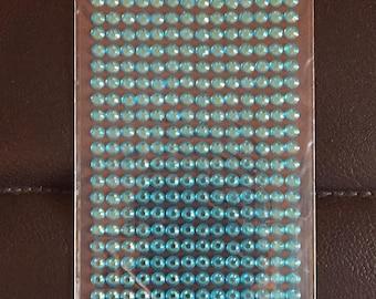 Pack blue self adhesive gems
