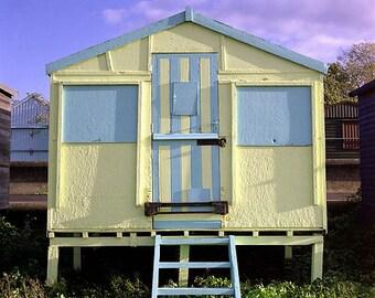 Beach Hut, Whitstable, Fine Art Blank Photographic Greetings Card & Print