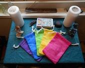 Marbled Jewel Tone Rainbow Colors Tarot Deck Bag (Choose Color)