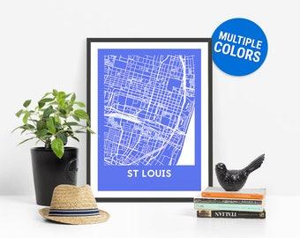 Saint Louis Map Etsy - St louis on us map