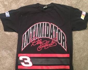 Vintage 90's NASCAR Dale Earnhardt The Intimidator T Shirt Nutmeg Mens XL