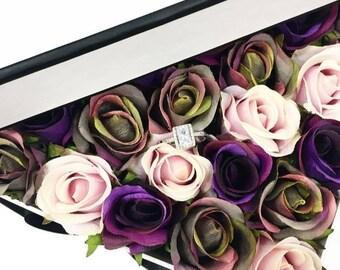 Boxed silk roses