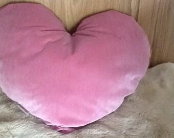 Handmade heart cushion
