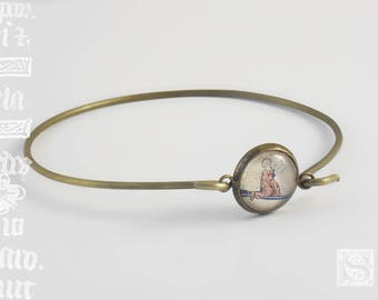 """Orbis"" - illumination under glass bracelet"