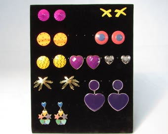 90's Post Costume Earrings Colorful Bright Lot Designer Givenchy