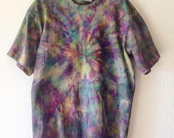 Tie Dye Purple Explosion with Green XL