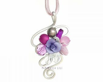 Divine Purple >>Rose<< Necklace