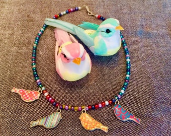 birdy necklace