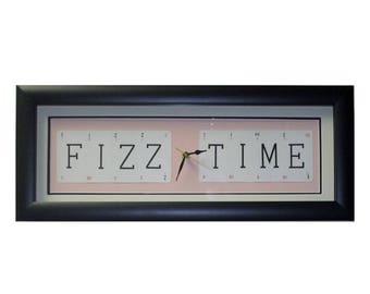 Fizz Time Word Art Clock