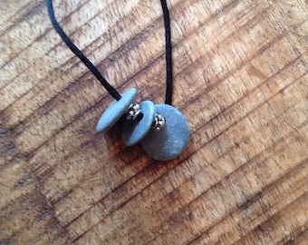 Drilled rocks necklace, rocks pendant, necklace, pendant, rock necklace, drilled necklace, multi-rock necklace
