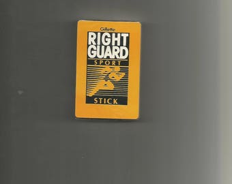 Playing Card Gillette Right Guard Sport Stick N O S