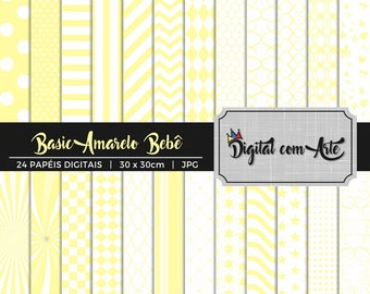 Baby Yellow Digital Paper