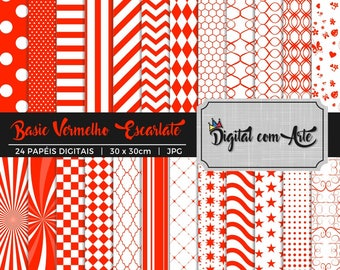 Red Scarlet Digital Paper