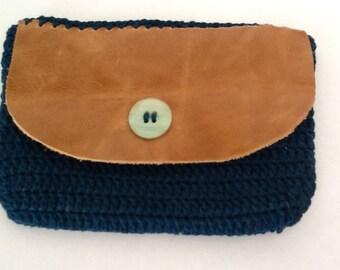 Bolsa de crochê em linha de algodão