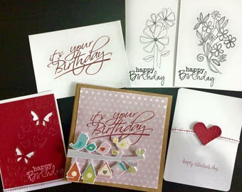 Sample handmade cards and accessories