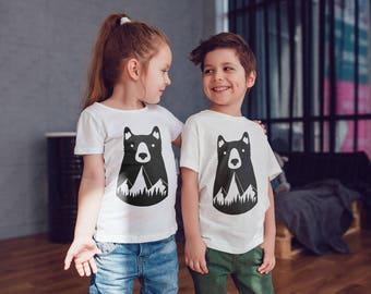 Bear Kids Shirts Kids tshirt Toddler Shirt Papa Bear Gift For Kids Children Shirts Kids Shirt Kid T-Shirt Boys Top Girls Top Kids Clothes