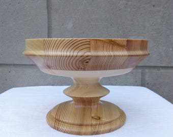 Wooden vase made of larch and pine