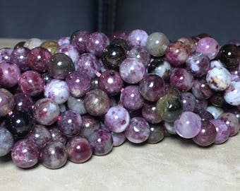 8mm Pink Tourmaline Gemstone Round 8mm Loose Beads 15.5 inch Full Strand, Pink Tourmaline Beads, Tourmaline Beads