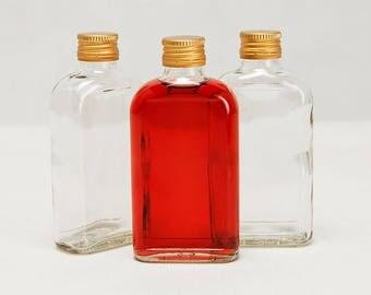 Glass Pocket Flask Bottles 200ml - 20cl - Set 8 Wedding Homebrew DIY gifts