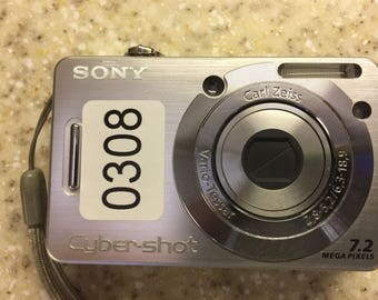 308 Sony CyberShot DSC-W55 7.2 MP Digital Camera - Silver