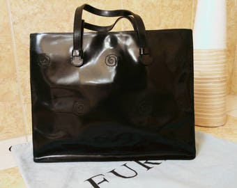 Furla Black Sleek Bag #totalblack