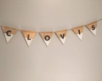 Wooden banner ~ customizable