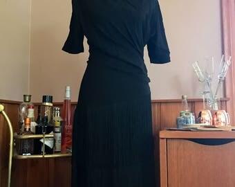 Vintage Figure Flatering Flapper Styled Dress