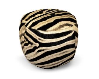 Zebra Skin Pouffe