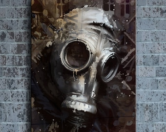 WKt Gas Mask - Canvas/Giclee