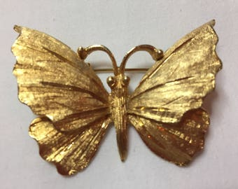 BSK Vintage Gold Butterfly Pin