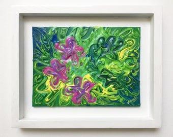 Swirls and Flowers - Original Painting