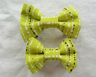 Pet Bow Tie - Green/White/Black