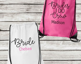Personalized Bridesmaids Tote Bags, I Do Crew Drawstring Tote Bags, Personalized Bridesmaid Gift