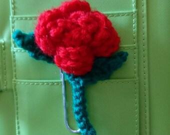 Rose planner clip