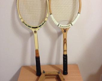 Vintage tennis rackets, Davis Classic 2 and Slazenger Signature