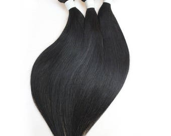 Set of 2 weaves Indian Straight Hair (smooth)