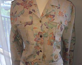 Vintage 80s flowery jacket