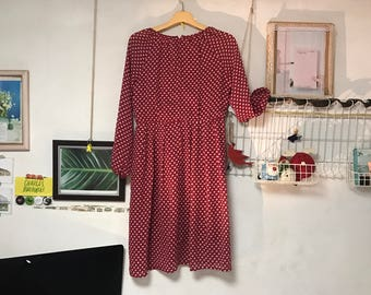 Red light weight vintage dress