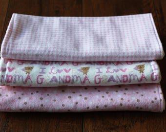 Infant Burp Cloths Flannel Terry Cloth Burp Cloth Set Burp Rags Bur-pees Girl Baby Shower Gift Nursery