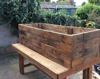 Rustic wooden veg boxes