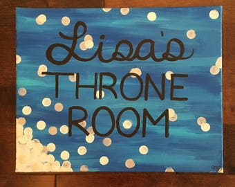Custom whimsical acrylic painting created for any room/reason.