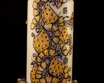 Henna Pillar Candle