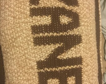 Personalized Crochet Pillow