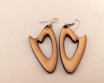 Wooden EARRINGS _ wood EARRINGS