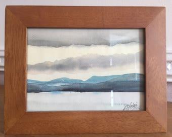 Landscape. Watercolour by Alan Smith