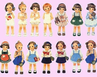 Girls 01 iron-on transfer sheet transfer decal