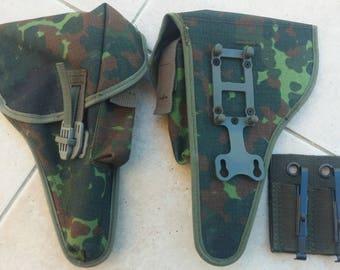 Bundeswehr Flecktarn Camo Walther P1 P38 pistol holster German Army surplus w/